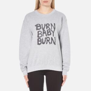 OBEY Clothing Women's War Pigs Burn Baby Burn Sweatshirt - Heather Grey