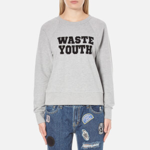 OBEY Clothing Women's Waste Youth Sweatshirt - Heather Grey