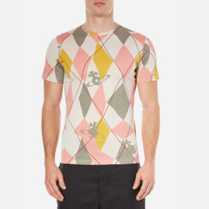 Vivienne Westwood MAN Men's Harlequin Diamonds T-Shirt - Pink Harlequin
