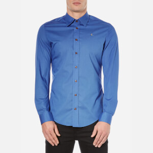 Vivienne Westwood MAN Men's Poplin Stretch Shirt - Blue