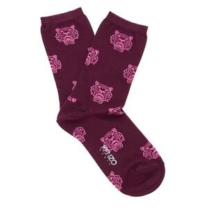 KENZO Women's Tiger Heads Socks - Burgundy