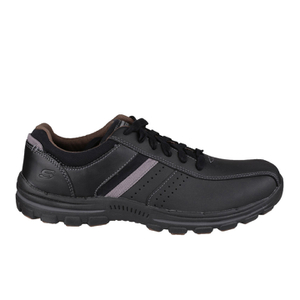 Skechers Men's Braver Alfano Casual Lace Up Shoes - Black