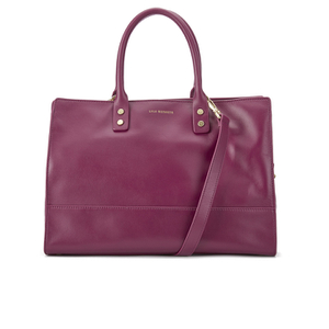 Lulu Guinness Women's Daphne Medium Smooth Leather Tote - Cassis