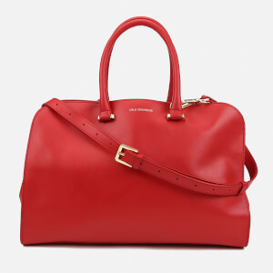 Lulu Guinness Women's Vivienne Medium Smooth Leather Tote Bag - Red