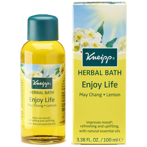 Aceite natural de baño Enjoy Life de limón y may chang de Kneipp (100 ml)