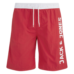 Jack & Jones Men's Classic Swim Shorts - Chinese Red