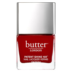 butter LONDON Patent Shine 10X Nail Lacquer 11ml - Her Majesty's Red