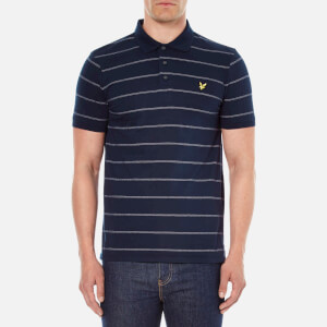 Lyle & Scott Vintage Men's Stitch Stripe Polo Shirt - Navy