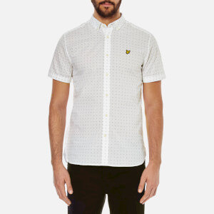 Lyle & Scott Vintage Men's Square Dot Shirt - White