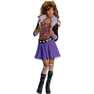 Monster High Girls' Clawdeen Wolf Fancy Dress
