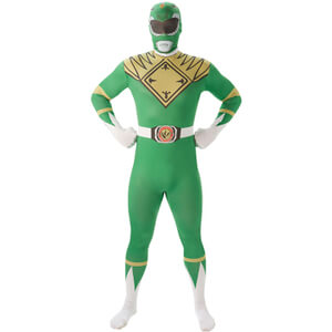 Power Rangers Men's 2nd Skin Green Ranger Fancy Dress