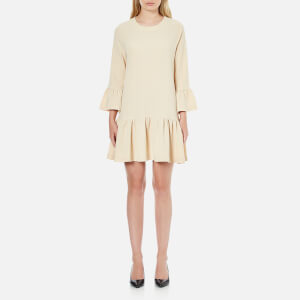 Ganni Women's Clark Dress - Ivory Cream