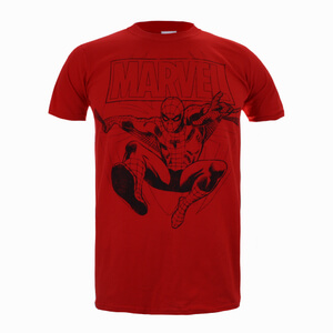 Marvel Spiderman Lines Herren T-Shirt - Rot