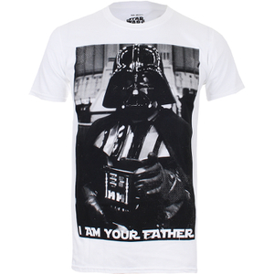 Star Wars Herren Vader Father Photo T-Shirt - Weiss