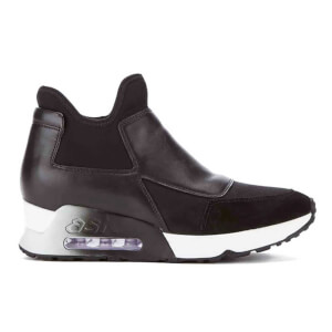 Ash Women's Lazer Sock Slip-On Trainers - Black/Black/Black
