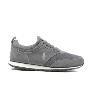 Polo Ralph Lauren Men's Ponteland Suede/Flannel Low Top Trainers - Grey/Charcoal Grey