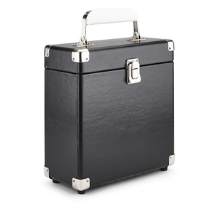 GPO Retro Portable Carry Case for 7-Inch Vinyl Records - Black