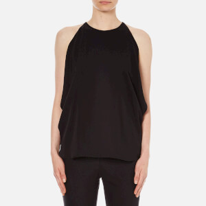 Theory Women's Bendava Silk Exposed Shoulder Top - Black