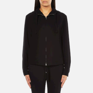 Theory Women's Charlia Admiral Crepe Light Hooded Top - Black
