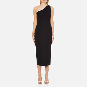 Theory Women's Yuleena Lustrate Midi Dress - Black