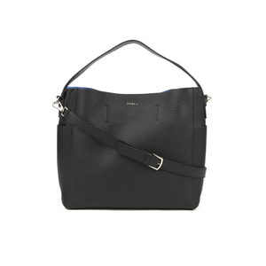 Furla Women's Capriccio Medium Hobo Bag - Black