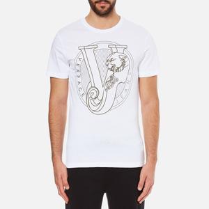Versace Jeans Men's Chest Print T-Shirt - White