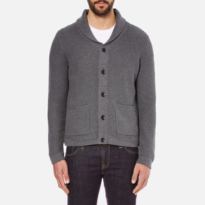 rag & bone Men's Avery Shawl Cardigan - Charcoal