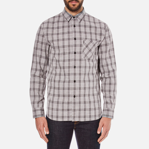 rag & bone Men's Beach Buttoned Shirt - Grey Check