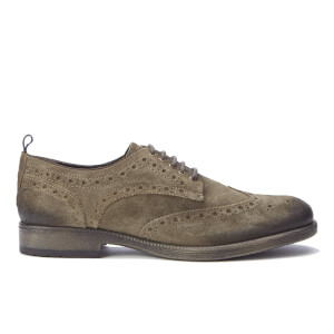 Wrangler Men's Castle Suede Brogues - Taupe