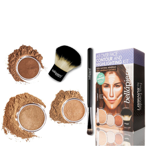 Bellapierre Cosmetics All Over viso highlight & Contour Kit - scuro