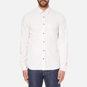 J.Lindeberg Men's Daniel Raw Silk Shirt - White