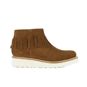 Grenson Women's Trixie Suede Fringe Boots - Snuff