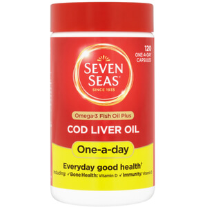 Seven Seas Cod Liver Oil One-A-Day - 120 Capsules