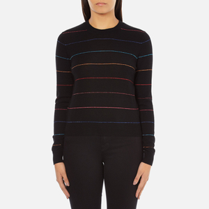 PS by Paul Smith Women's Fine Stripe Jumper - Black