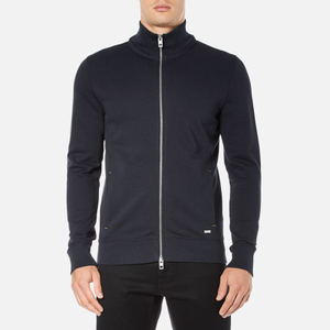 BOSS Orange Men's Zissou Zipped Sweatshirt - Dark Blue