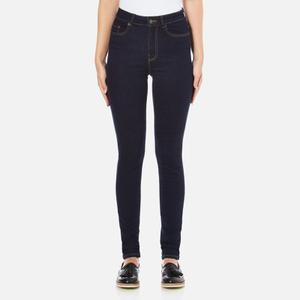 Vero Moda Women's Nine High Waisted Denim Jeans - Dark Blue Denim