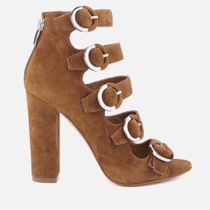 Kendall + Kylie Women's Evie Suede Strappy Heeled Sandals - Modern Cognac
