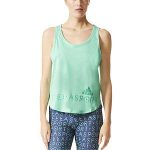 adidas Women's Stellasport Climacool Aeroknit Gym Tank Top - Green