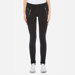 ONLY Women's Eternal Regular Skinny Zip Jeans - Black