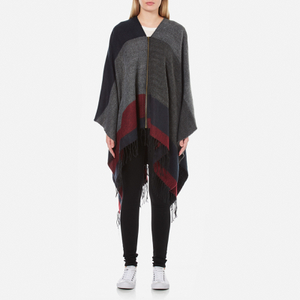 ONLY Women's Anda Weaved Zip Poncho - Night Sky
