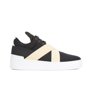Filling Pieces Women's Bandage Low Top Trainers - Black/White