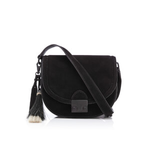 Loeffler Randall Women's Saddle Bag - Black/White