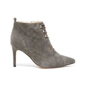 Clarks Women's Dinah Star Lace Up Suede Heeled Boots - Grey