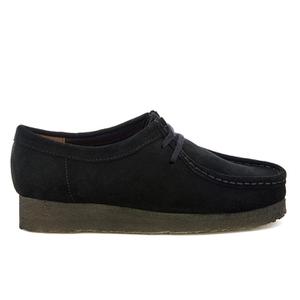 Clarks Originals Women's Wallabee Shoes - Black Suede