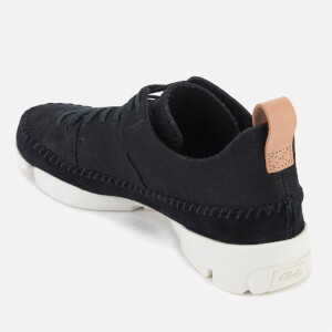 Clarks Originals Women's Trigenic Nubuck Suede Trainers - Black: Image 4