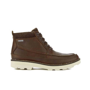Clarks Men's Korik Rise GORE-TEX Leather Lace Up Boots - Tobacco