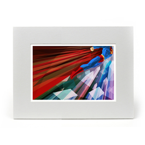EXCLUSIVE Superman Inspired Illustrated Art Print - Mounted (14x11 Inches) (Limited Edition)