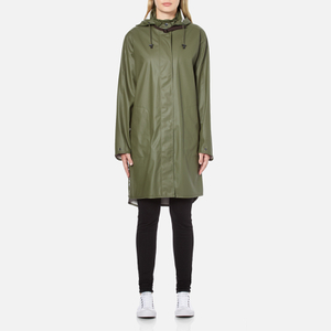 Ilse Jacobsen Women's Light True Rain A Line Coat - Army