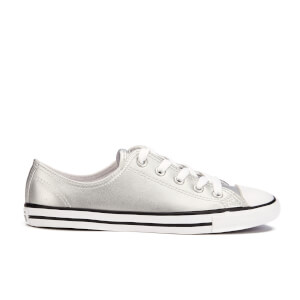 converse chuck taylor all star dainty ox silver silver white