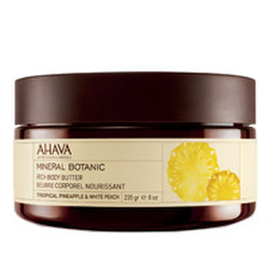 AHAVA Mineral Botanic Rich Body Butter - Tropical Pineapple and White Peach